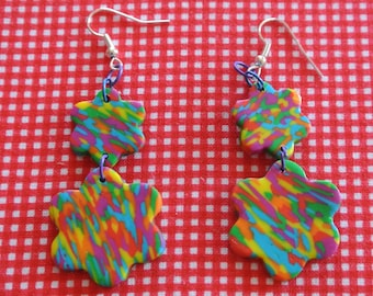 patchwork 3 earrings