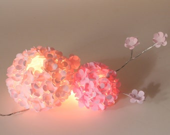 Hydrangea Ball Centerpiece - Illuminated Paper Flower Wedding Event Decoration