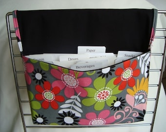 Coupon Organizer / Budget Organizer Holder Coupon Wallet- Attaches to Your Shopping Cart - BRIT DAISIES