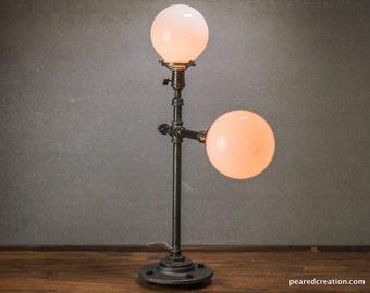 Mod Table Lamp - Mid Century Modern - Table Lamp - Edison Table Lamp  - Industrial Lighting - Iron Pipe - Atomic Age Furniture