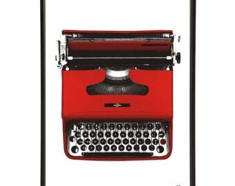 Mid-Century Office Typewriter Pop Art Print