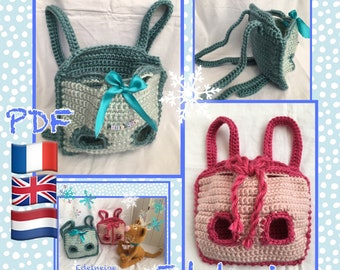 Tutorial crochet Messenger bag for Ten kei yoshe.