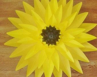 Giant Paper Sunflower - Sunflower Decor | Baby Nursery | Sunflowers Art | Sunflower Wedding | Paper Art | Large Paper Flower Decorations