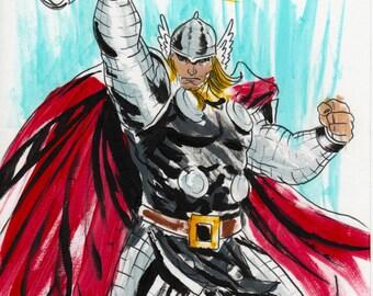 thor hero god of thunder marvel avenger art print