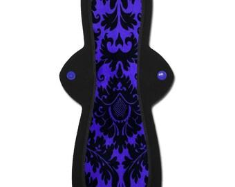 "Luxurious Menstrual Pad (12"" Moderate or Heavy in Purple ""Majesty"" Minky)"