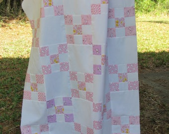 Personailzed Monogramed Quilted Irish Chain Baby Girl Blanket Quilt
