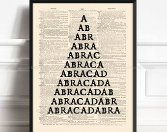 Magic Art Poster, Geeky Boyfriend Gift, Abracadabra, Featured On TV, Boyfriend Xmas Gift, Halloween Quote Art, Mom Decor Gift, Funny Art 208
