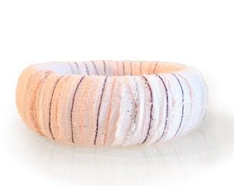 De-Stressed Fabric Wrapped Bangle