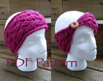 CROCHET PATTERN - The Celtic Weave Warmer - Headband - With Button - (PDF File)