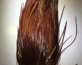 Grade 1 Dark Ginger Dry Fly Saddle