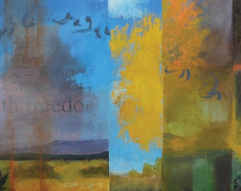 The Freedoms of Autumn ~ Original Contemporary Abstract Landscape Painting