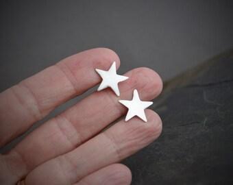 Astronomy Earrings, Star Earrings, Star Stud Earrings, Silver Star Earrings, Sterling Star Earrings, Minimalist Studs, Star Post Earrings