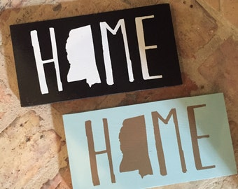Home State Wooden Sign