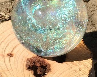 Spiral Dichro Marmor Lampwork von PACIFICNWGLASS Kostenloser Versand