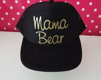 Mama Bear Trucker Hat. Mama Bear Hat. Mama Hat. Momlife. Baby Shower Gift. Mom To Be. New Mom Gift. Maternity Gift. Pregnancy Gift.