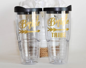 Bride Tribe Tumbler Large 24 oz Tumbler, Bridesmaid and Bachelorette Cups or Gifts