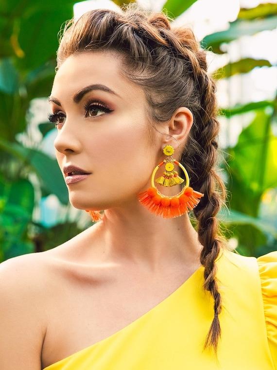 Camila Wild Fringe Statement Earring
