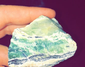 Raw Green Opal with Magnesite