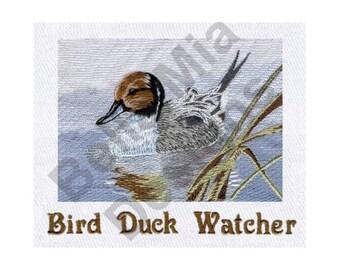 Duck - Machine Embroidery Design, Bird Watcher