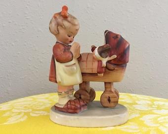 Doll Mother Vintage Figurine Arthur Moeller Goebel Girl Praying Baby Carriage Stroller Handpainted MJ Hummel Discontinued 67 West Germany