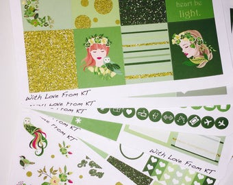 St. Patty's Day Full Week Planner Sticker Kit