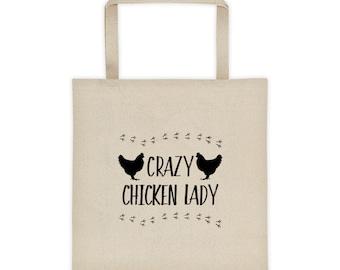 Crazy Chicken Lady Tote bag - Chicken Bag
