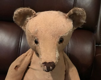 "20"" well loved Gebruder Bing teddy bear"