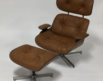 Midcentury modern eames style lounge chair by Selig
