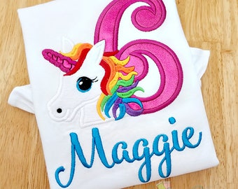Unicorn Rainbow Birthday Shirt - Girls Unicorn Birthday Shirt - Unicorn Birthday Tee - Unicorn Shirt - Girls Birthday Tee - Rainbow Unicorn