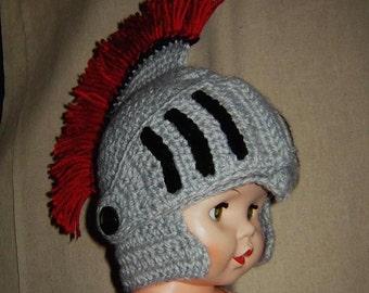 Greek Helmet, Leonidas helmet, Roman helmet, with Faceshield/Visor, 5 Sizes Baby - Adult,INSTANT DOWNLOAD Crochet Pattern