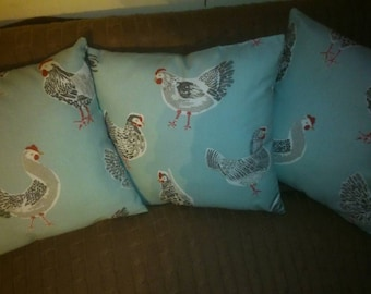 Duckegg blue Chicken cushion
