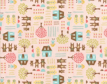 Home Sweet Home - Pink Goldie & The Three Bears Fabric - Stacy Iest Hsu - Sold by Half Yard