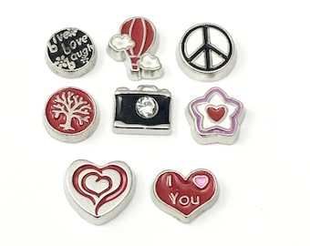 8 love peace floating charms for memory locket,BIG SALE! #MINCH 026