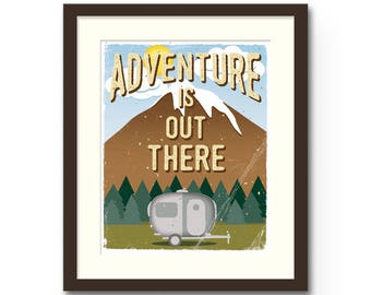 """Adventure Is Out There Print - 8x10"""" or 11x14"""" Disney / Pixar """"Up"""" Inspired nature / camping Wall Art Print : Nursery Art / Decor"""