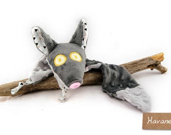 Wolf blankie - Wolf security blanket - Stuffed Animal - Baby Shower Gift - Baby gift