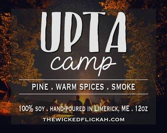 Upta Camp {12oz mèche en bois bougie de soja}