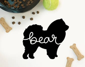 Custom Chow Chow Decal