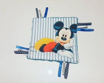 Blue mickey flat plush soft