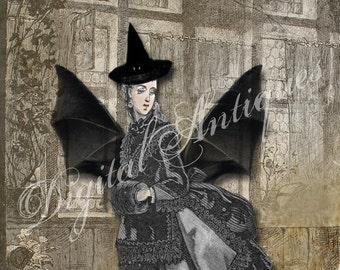 Halloween Vintage Vampires Images Printable Digital Download