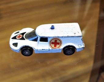 Vintage Corgi Juniors Healer Wheeler Ambulance Made in Great Britain!