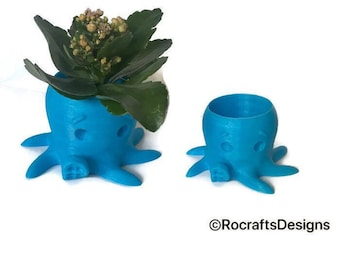 3D printed octopus planter for succulents
