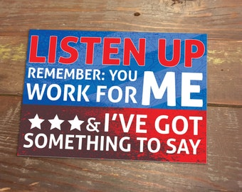 Listen Up Political Postcard - Write your representative 12 pack