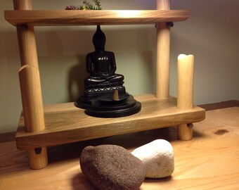 Meditation stand, meditation altar, Zen stand, Zen decor, Buddha shrine,  made to order