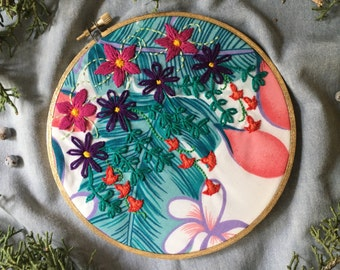 Hanging Gardens Hand Embroidery