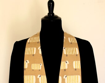 """Clergy Stole, FeedMySheep #112, Pastor Stole, Minister Stole, 54"""" Length, Linen Clergy Stole, Neutral Colors, Pastor Gift, Vestments"""