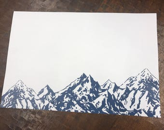 Classic Mountains Paper Placemats - Set of 25
