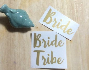 Bride Tribe and Bride Decals | Bachelorette Party | Wine Glass for Girls Night | #tribe | Wedding Decals l DIY Wedding | Bachelorette Party