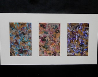 Original Abstract, Triptych Painting, Modern Wall Art, Abstract Painting, Original Artwork, Wall Art