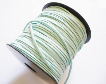 Suede cord blue 3mm wide 1.5 mm thick