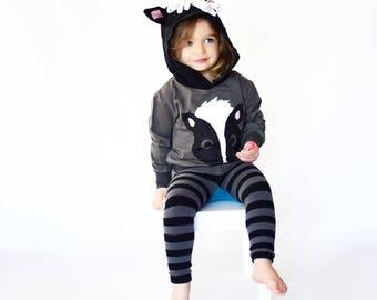 Hoodie Skunk Baby Set